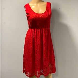 Red dress lace